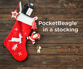 Light Up Your Holidays With PocketBeagle®
